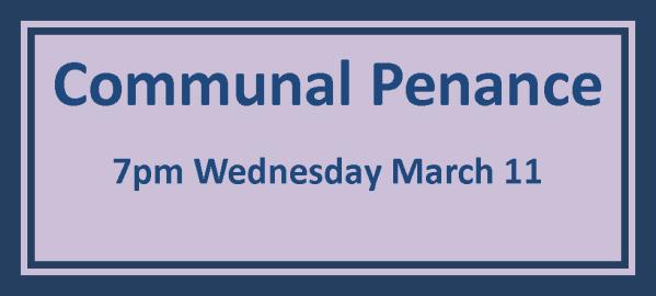 Communal Penance Schedule